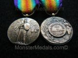 MINIATURE WW1 INTER ALLIED VICTORY MEDAL FRANCE (PAUTOT VERSION)